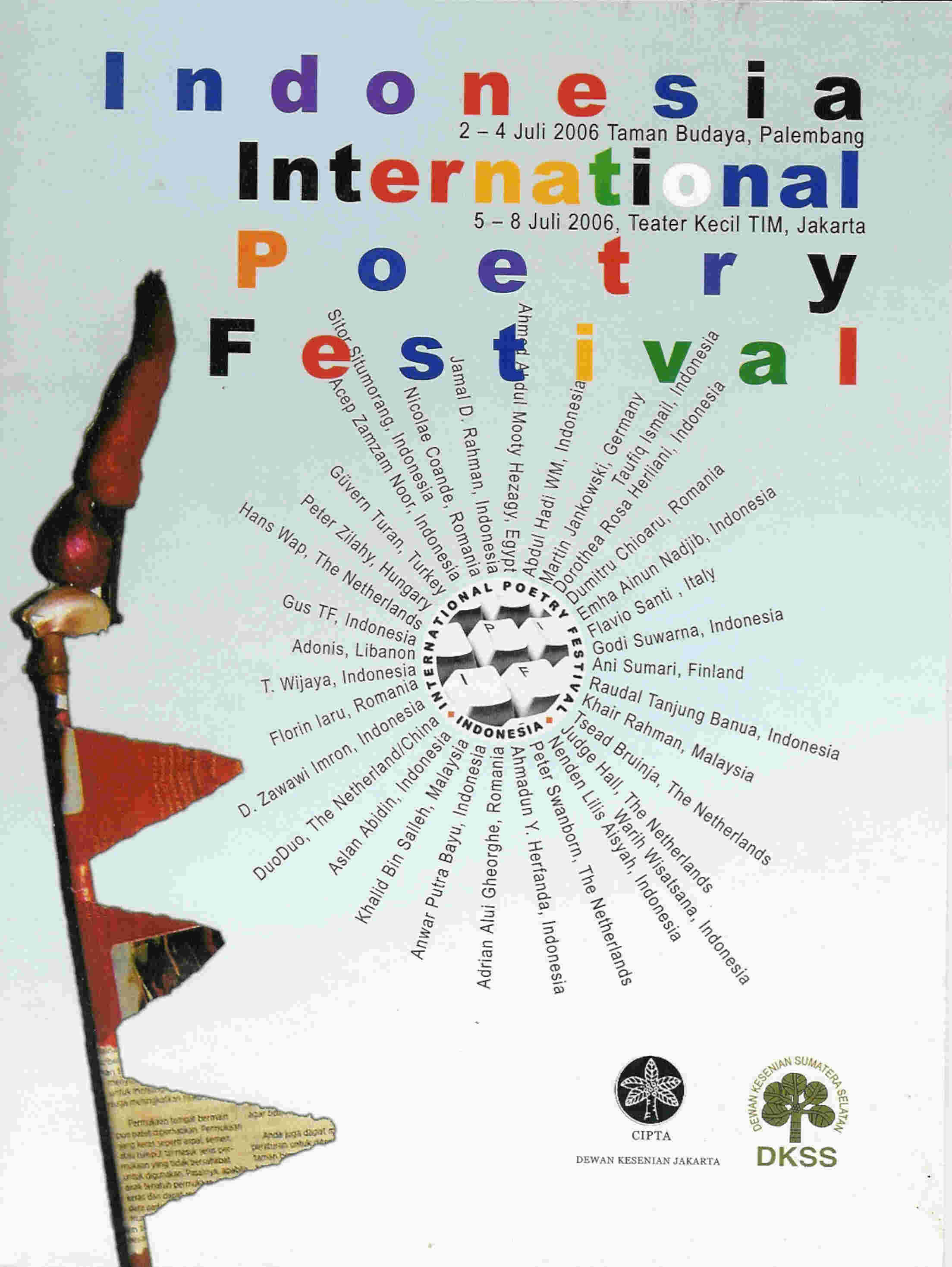 Indonesische vertalingen in 'Poetry and Sincerity', de catalogus van het International Poetry Festival Indonesia, Jakarta 2006